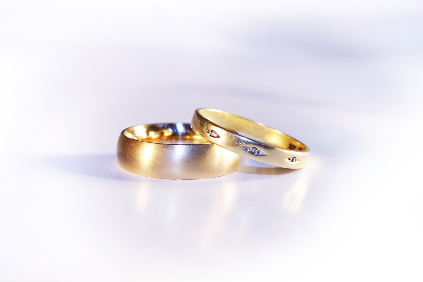 antique gold ring set