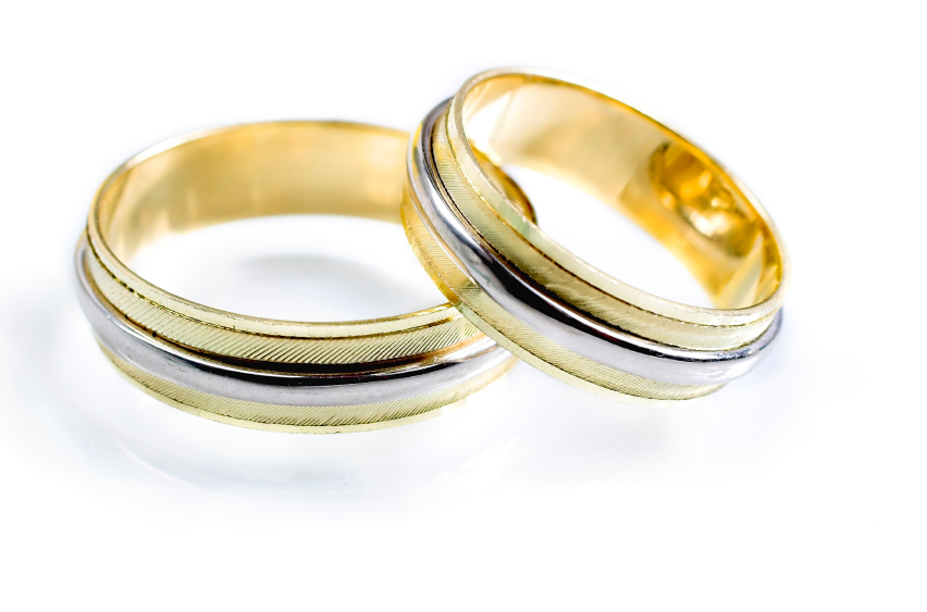 banded wedding rings