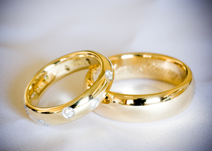 Wedding Ring Gold | Gold Diamond Wedding Ring Set Wedding Rings Pictures