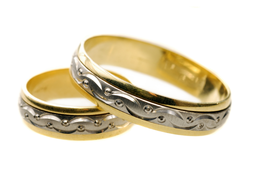 ornamental wedding bands