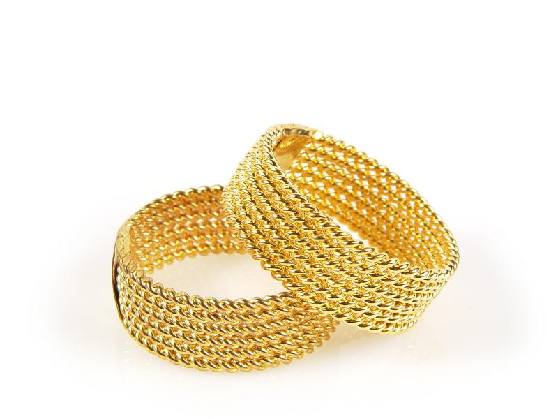vintage braided gold ring set Wedding Rings